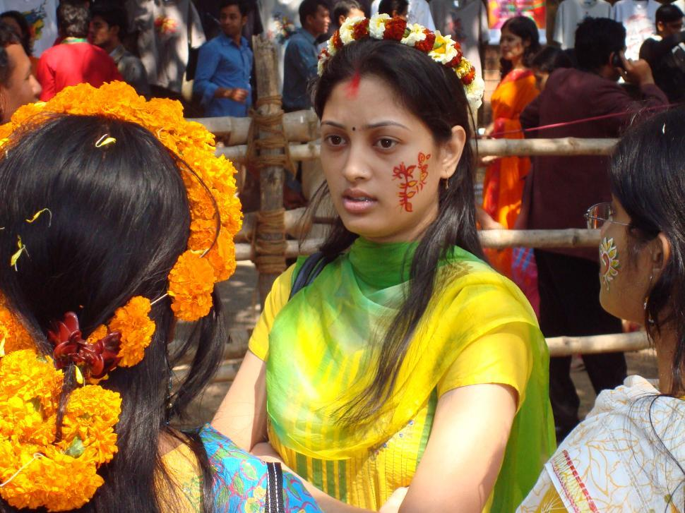 Download Free Stock Photo of Girls in Bengali New Year