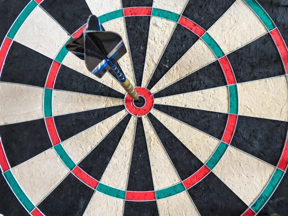 Download Free Stock HD Photo of Bullseye on dartboard Online