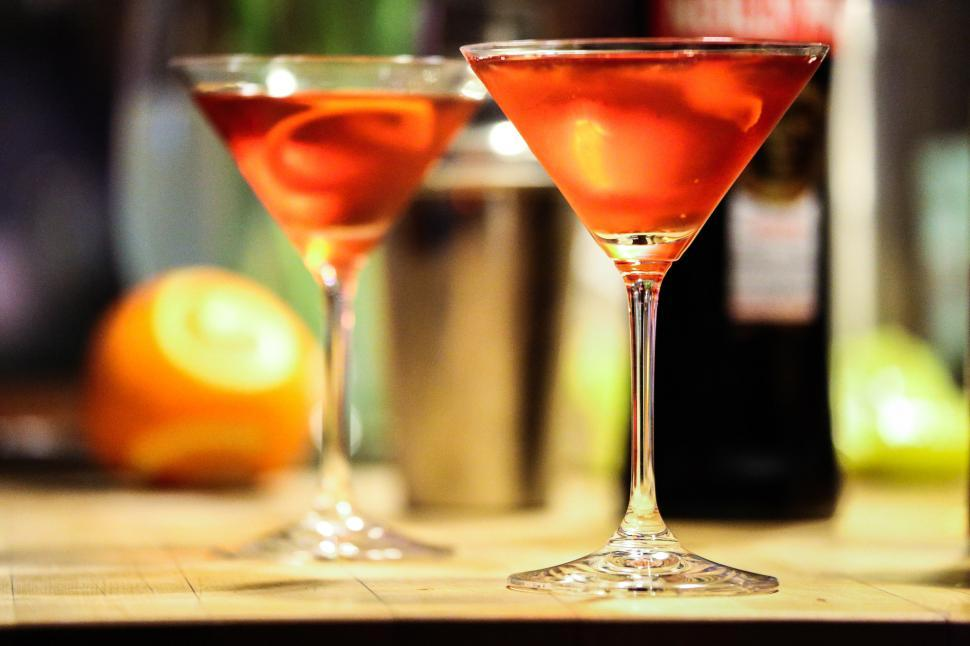 Download Free Stock HD Photo of Two Red Cocktails Online