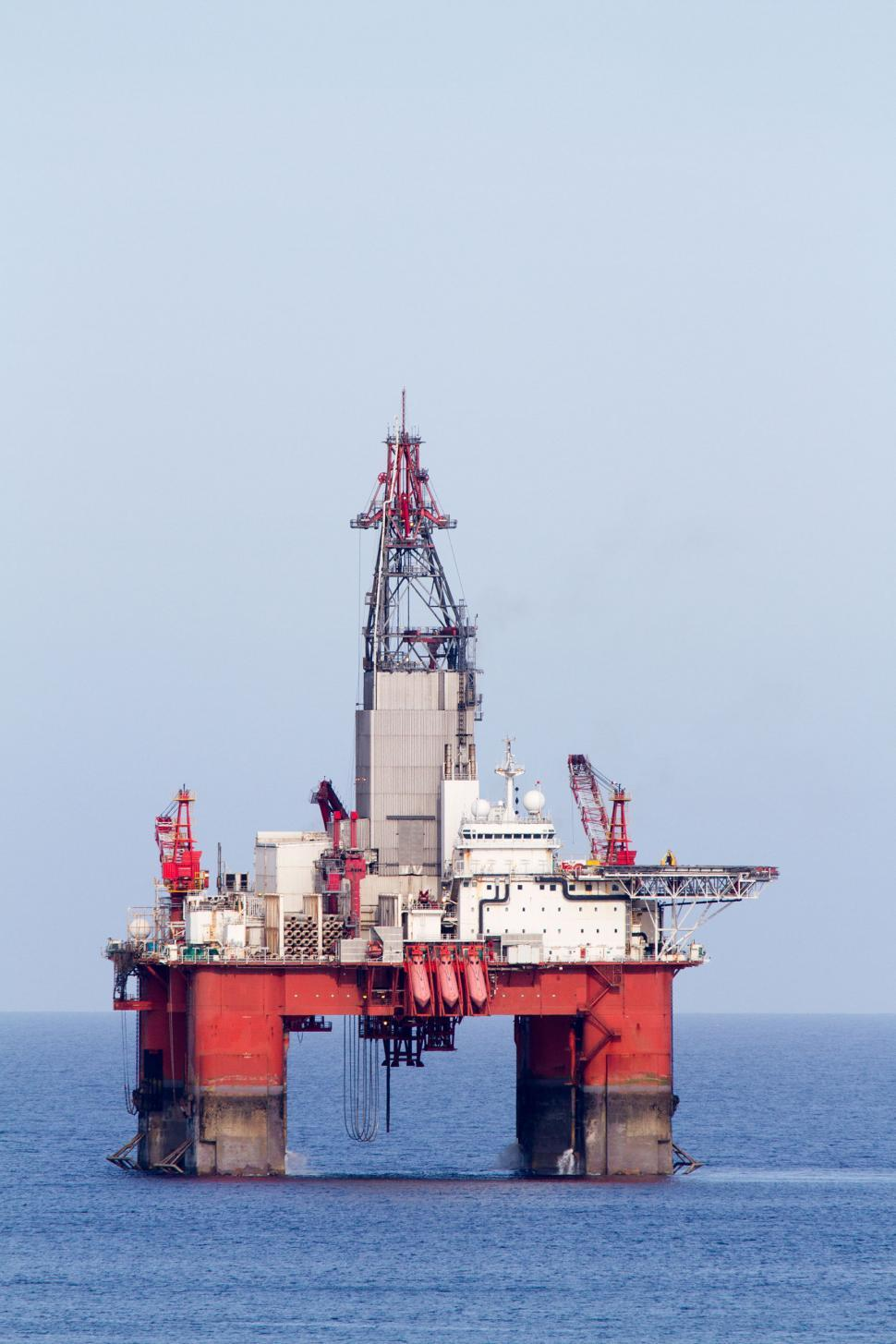 Download Free Stock Photo of Oil and gas drilling platform