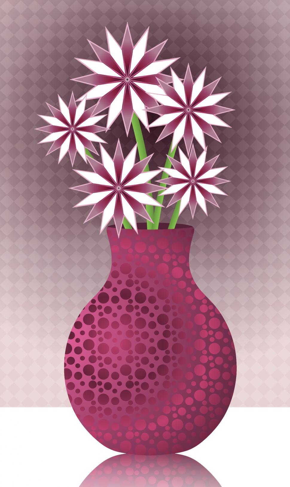 Download Free Stock Photo of  Pink and White Flowers in Vase