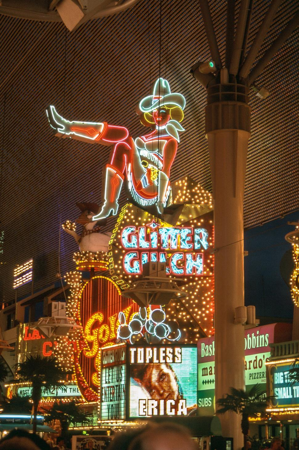 Download Free Stock Photo of Girls of Glitter Gulch