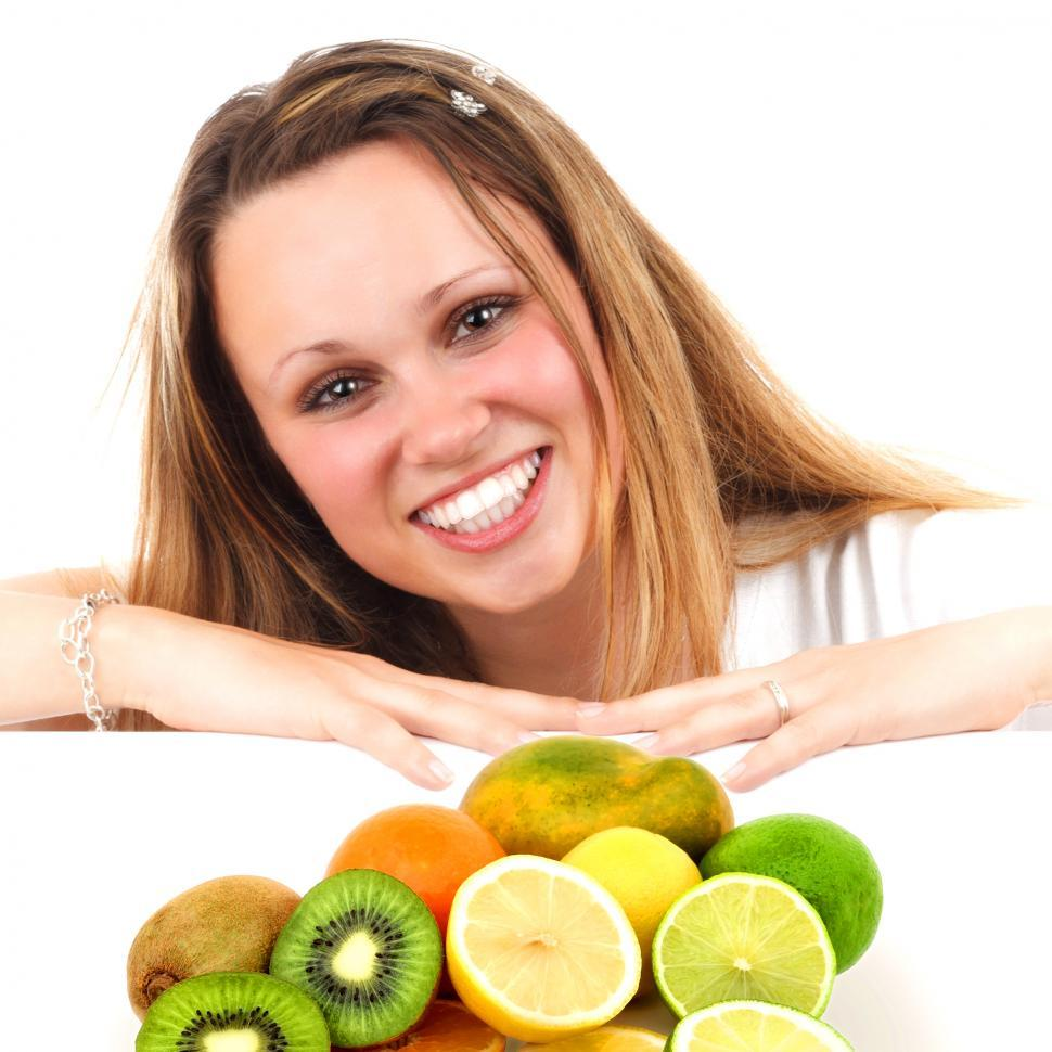 Download Free Stock HD Photo of Eat More Fruit - Woman and Assorted Fruit Online