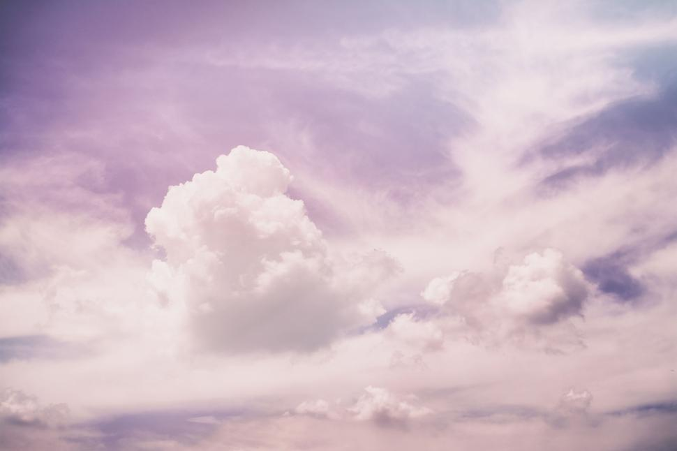 Download Free Stock Photo of Nature clothes suits plastic hanging shipping commerce sales sky meteorology clouds weather cloud cloudscape sun heaven atmosphere environment clear air summer sunlight light day outdoors cloudy space high climate landscape fluffy wind sunny bright horizon color scene spring overcast season scenics scenic cloudiness backgrounds freedom