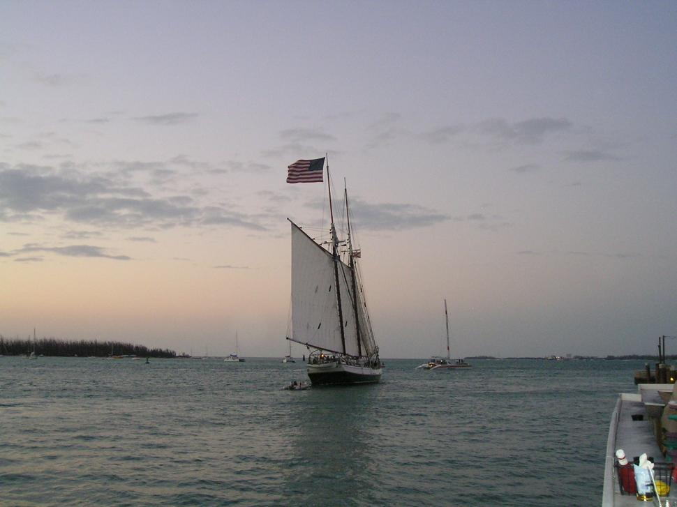 Download Free Stock Photo of Sailboat in Key West