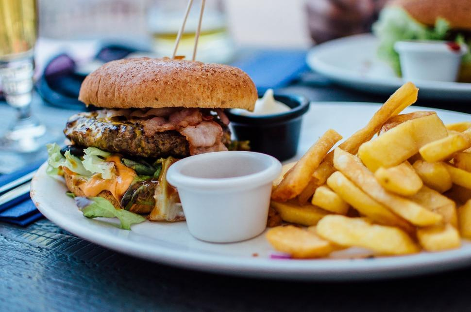 Download Free Stock Photo of Food & Drink dinner meal food lunch plate meat gourmet dish delicious sandwich hamburger cuisine vegetable tasty sauce restaurant lettuce healthy fresh bread diet tomato eating chicken snack cooking eat vegetables onion pepper snack food cheese slice grilled