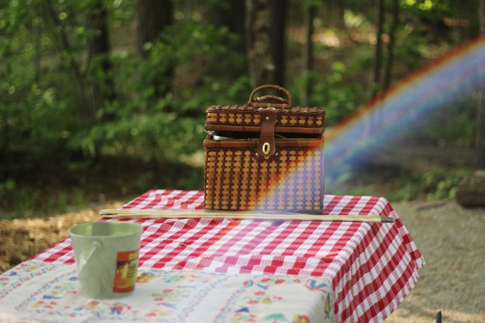 Download Free Stock Photo of Objects basket hamper container food wicker