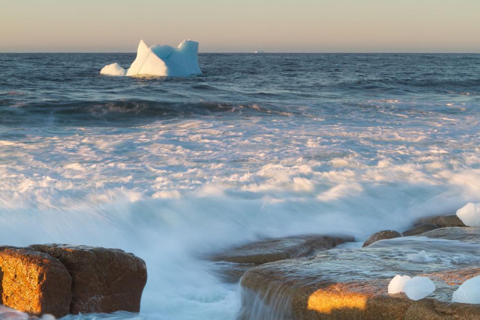 Download Free Stock Photo of Coastal Icebergs