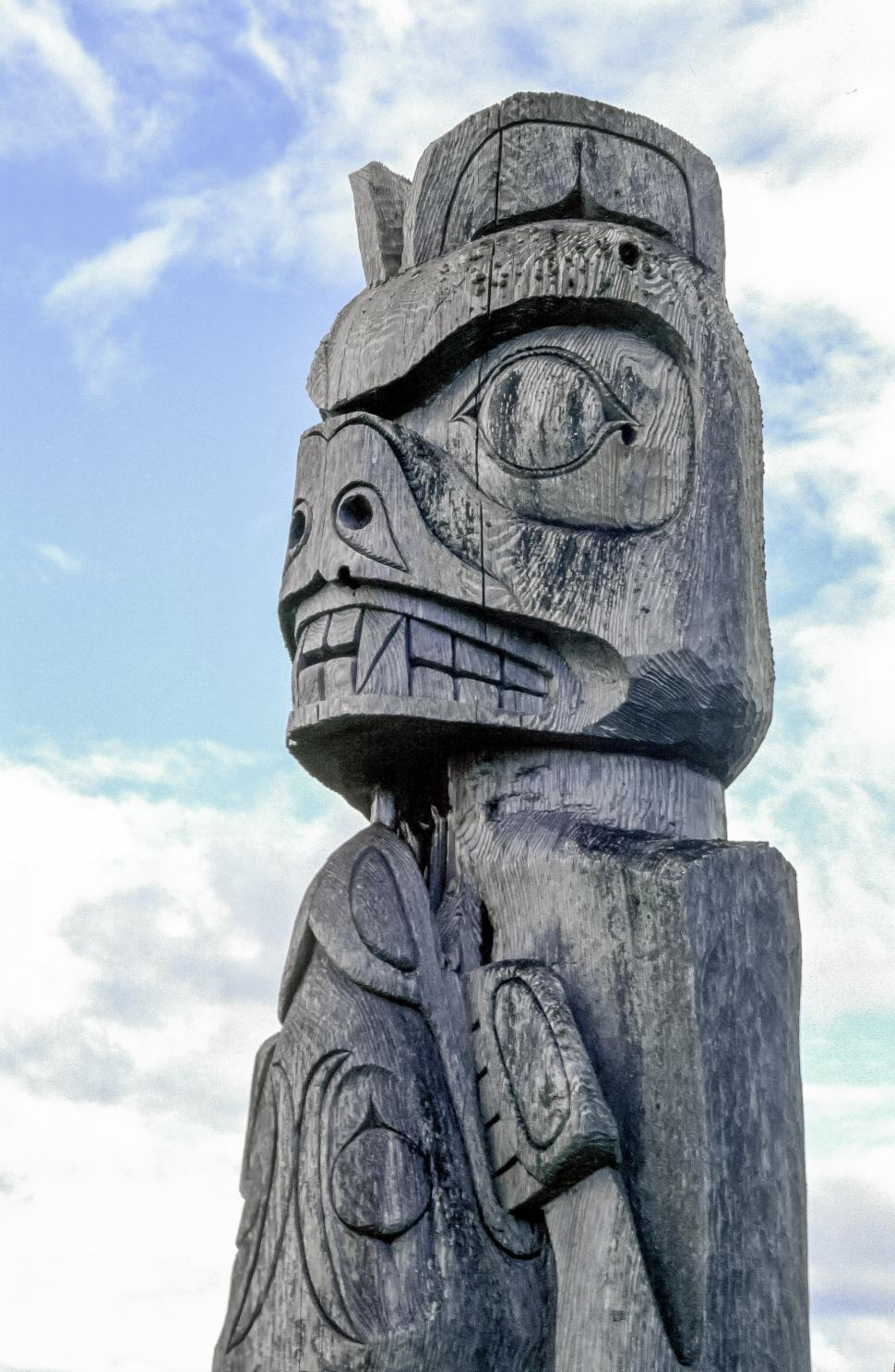Download Free Stock Photo of Close up of a totem pole