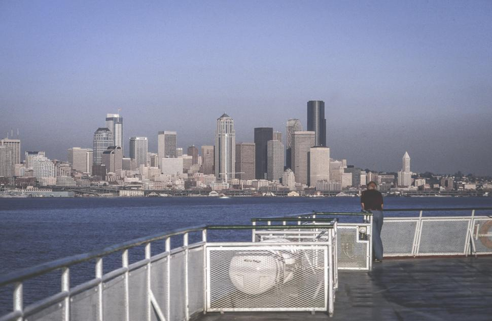 Download Free Stock HD Photo of View Of City of Seattle Online