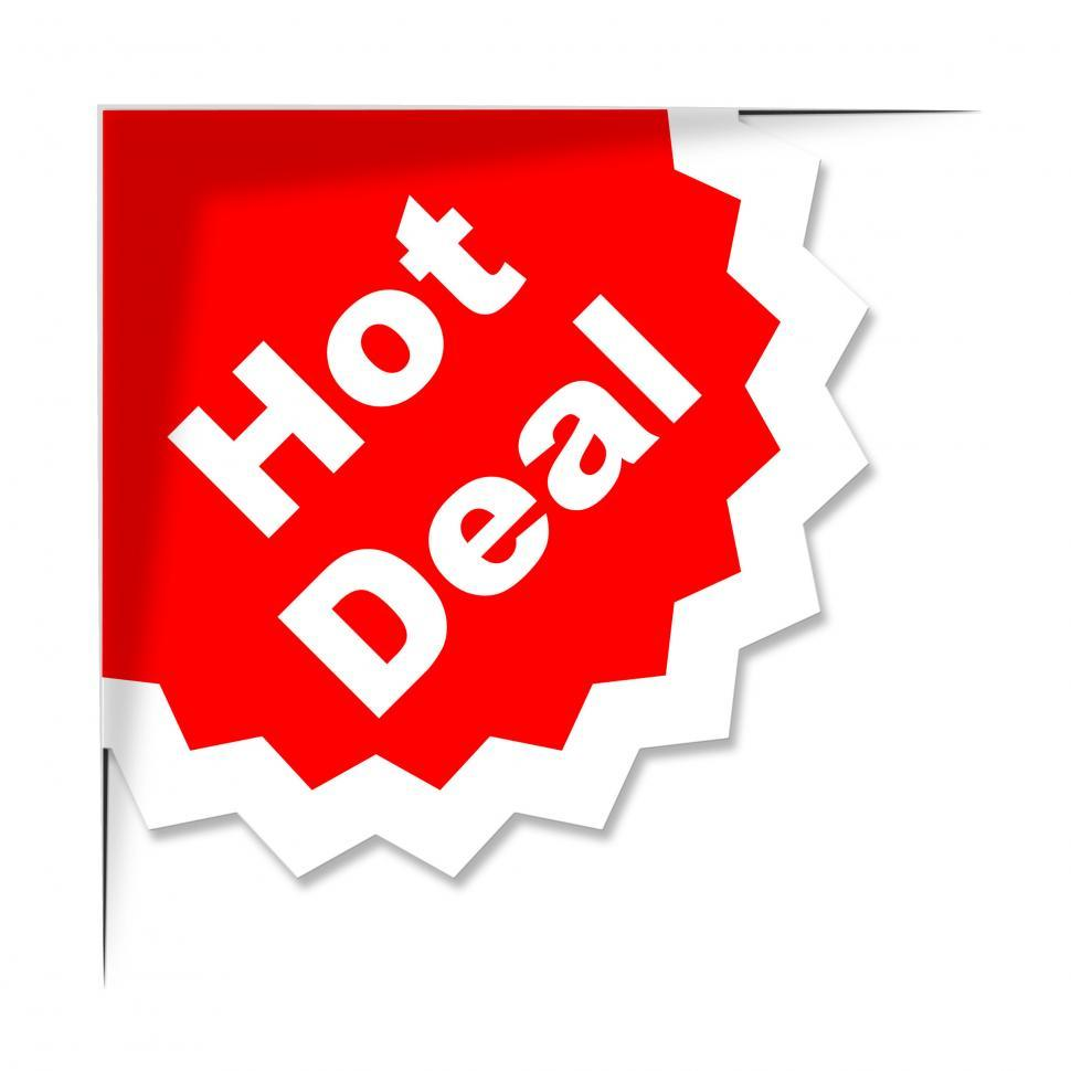 Download Free Stock HD Photo of Hot Deal Represents Best Price And Business Online