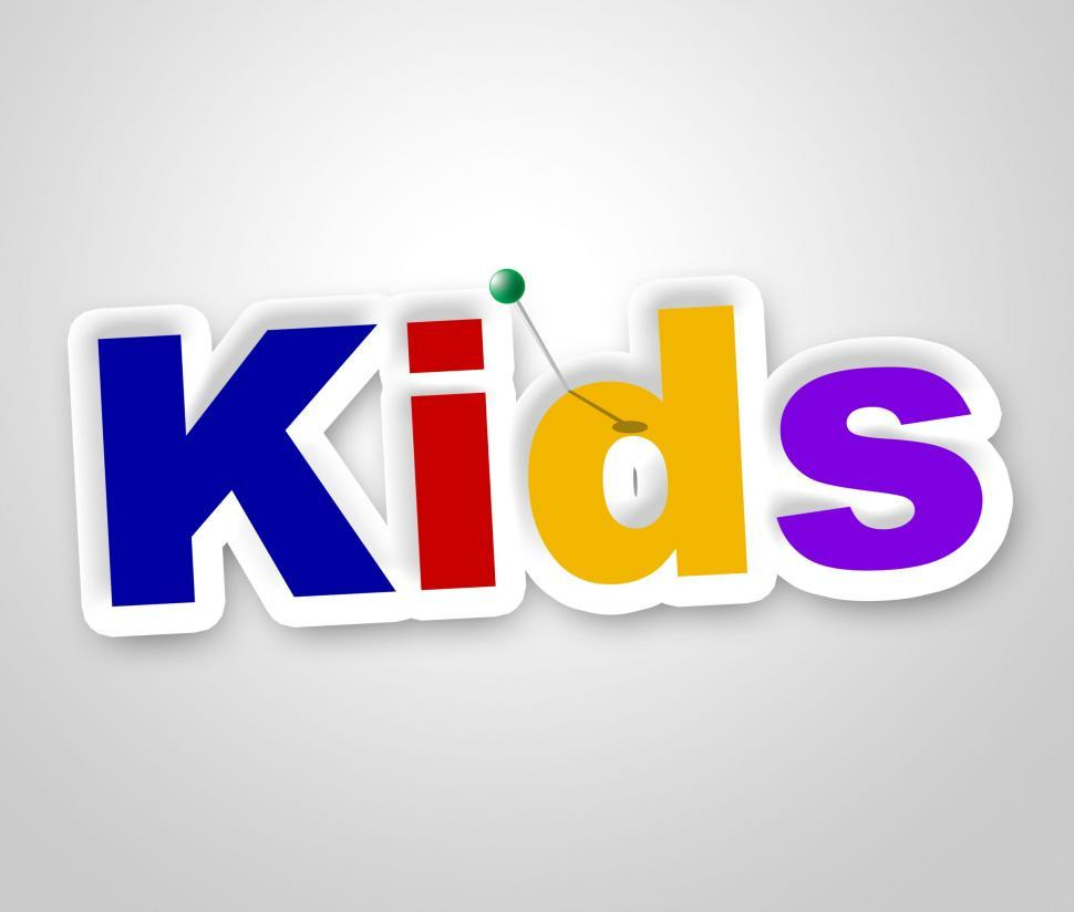 Download Free Stock HD Photo of Kids Sign Represents Message Advertisement And Childhood Online