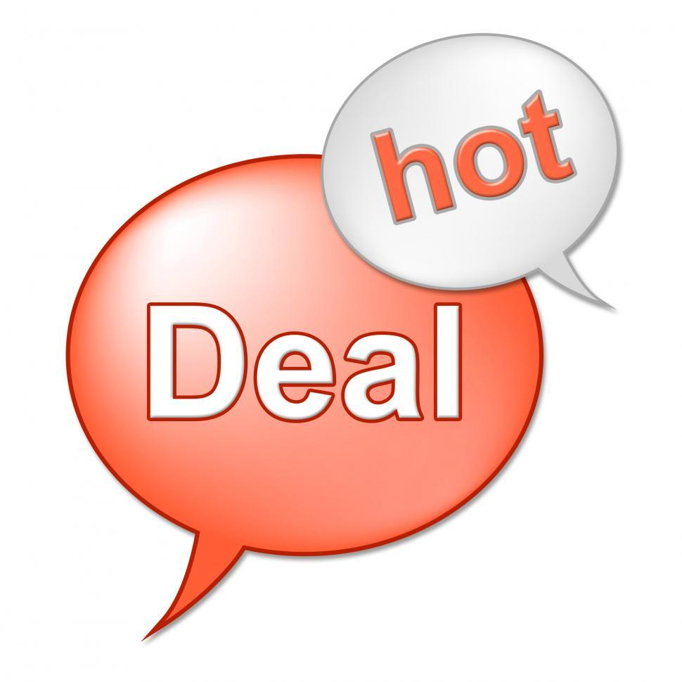 Download Free Stock Photo of Hot Deal Message Indicates Best Price And Business