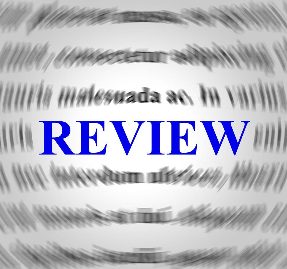Download Free Stock Photo of Review Definition Represents Evaluate Reviews And Inspection