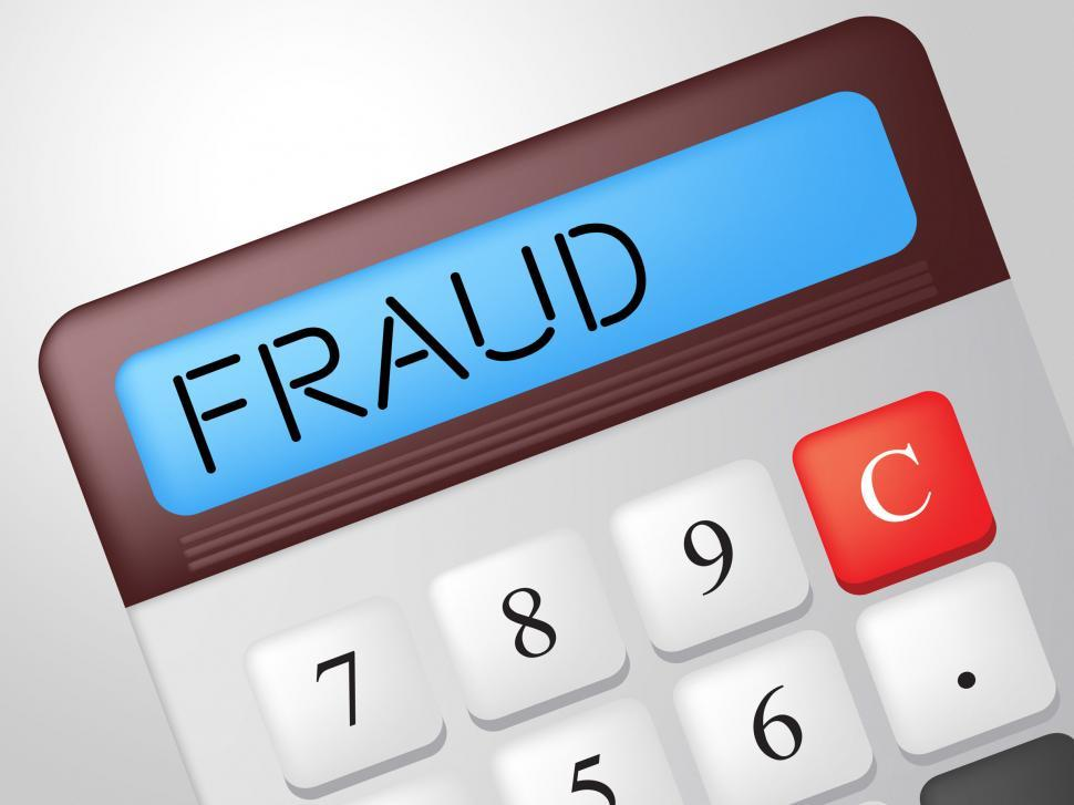 Download Free Stock HD Photo of Fraud Calculator Indicates Rip Off And Calculate Online