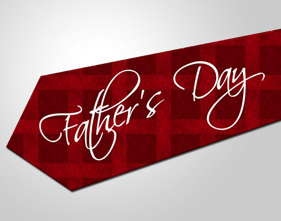 Download Free Stock HD Photo of Fathers Day Tie Represents Parenting Cheerful And Fatherhood Online