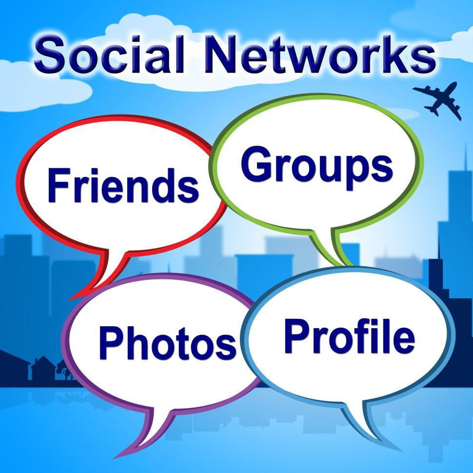 Download Free Stock Photo of Social Networks Words Shows Blogging Blogs And Internet
