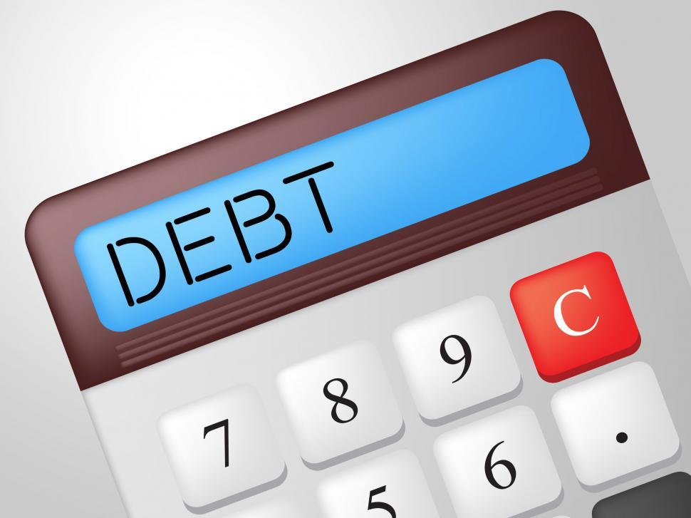 Download Free Stock HD Photo of Debt Calculator Indicates Financial Obligation And Calculation Online