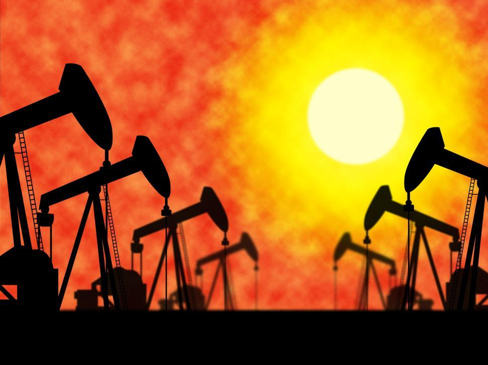 Download Free Stock HD Photo of Oil Wells Means Industrial Nonrenewable And Extract Online