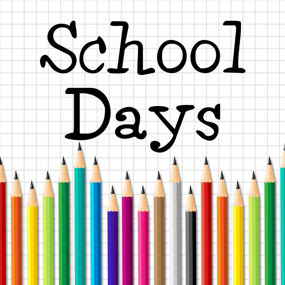 Download Free Stock HD Photo of School Days Pencils Represents Tutoring Toddlers And Stationery Online