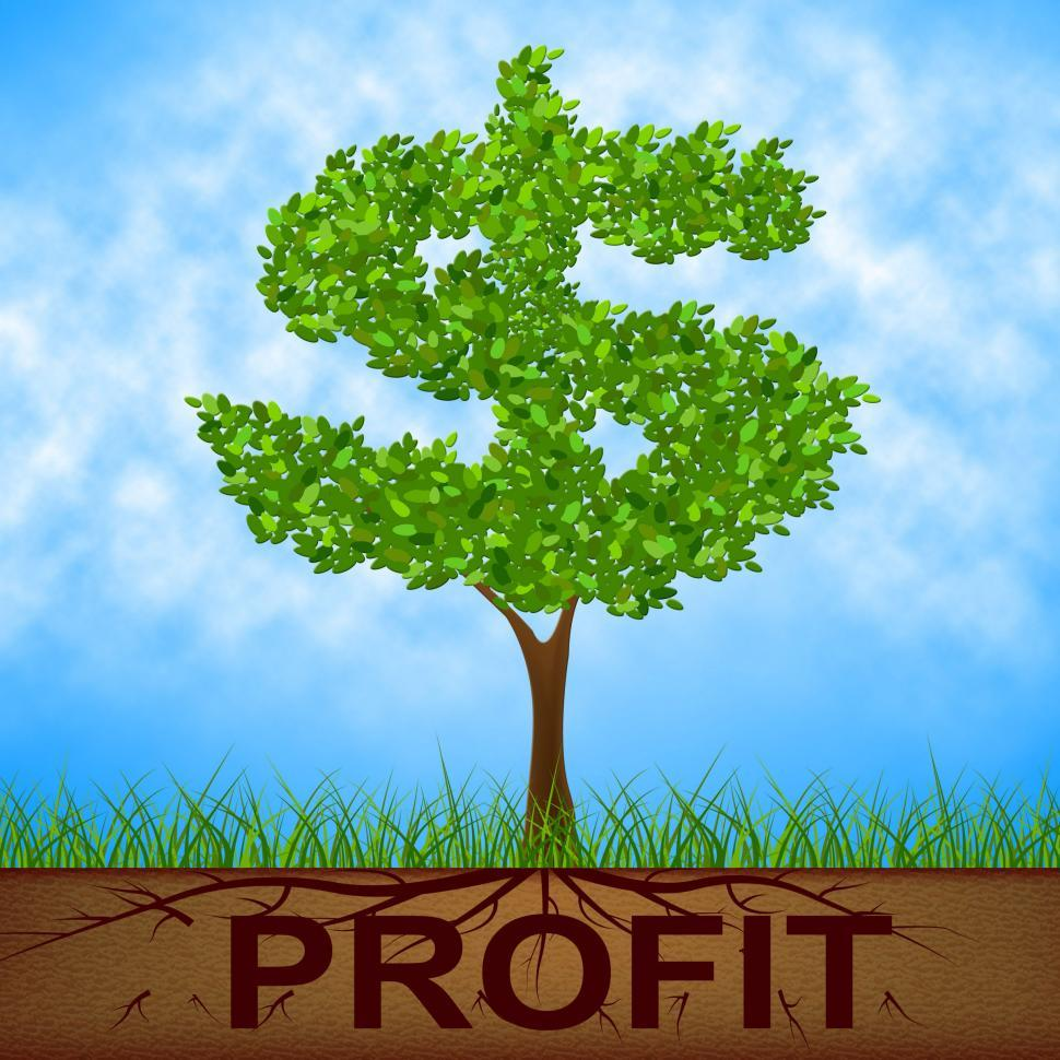 Download Free Stock HD Photo of Profit Tree Shows United States And Banking Online