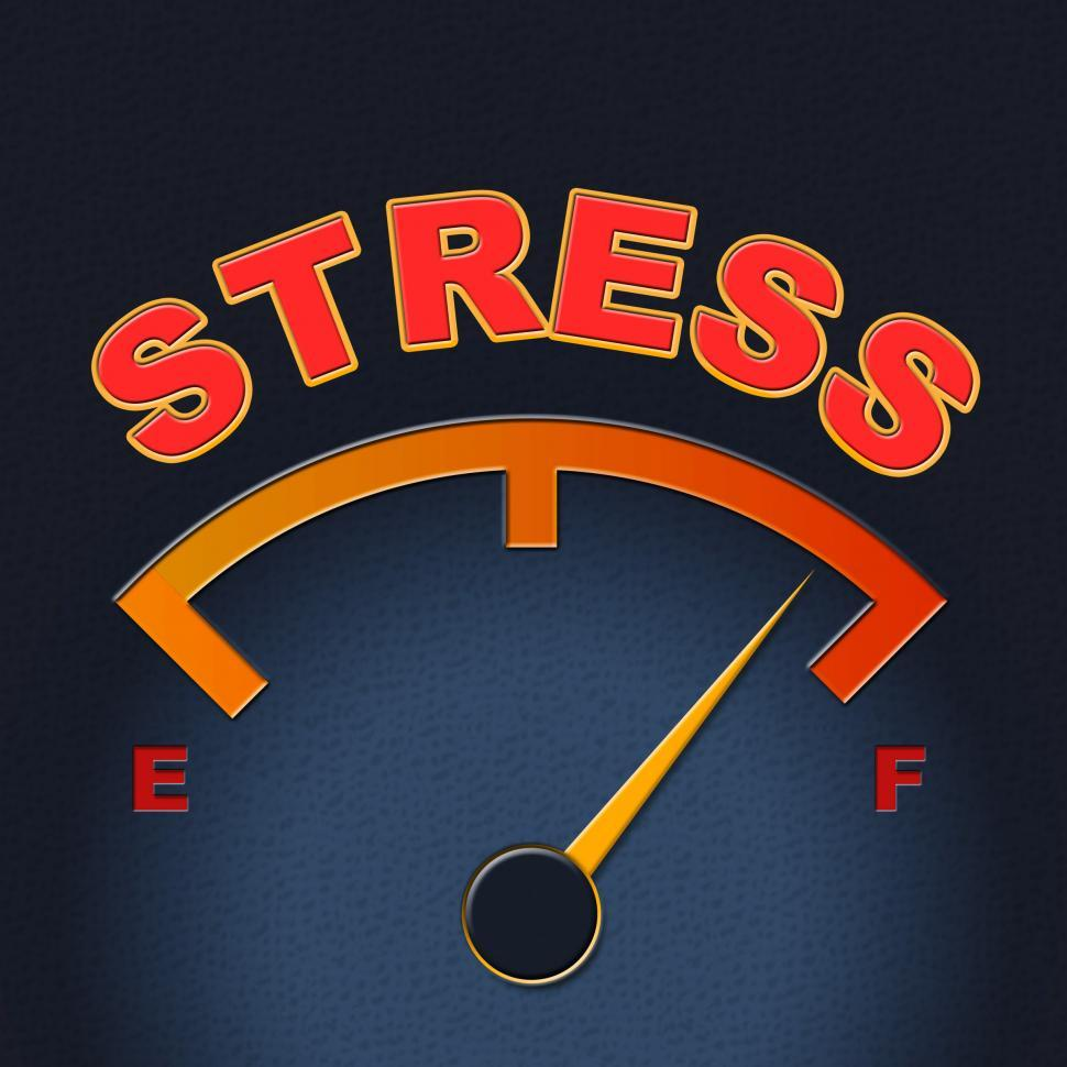 Download Free Stock Photo of Stress Gauge Means Indicator Dial And Pressure