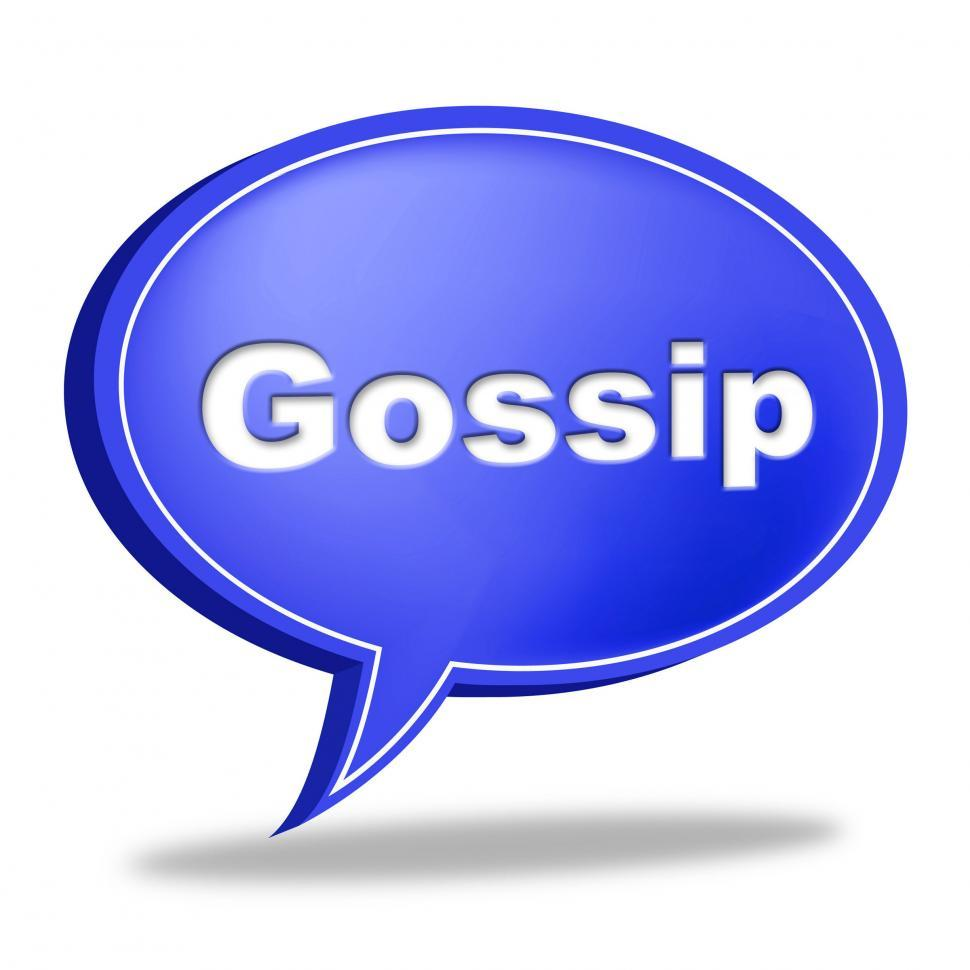 Download Free Stock Photo of Gossip Speech Bubble Represents Chat Room And Chatter