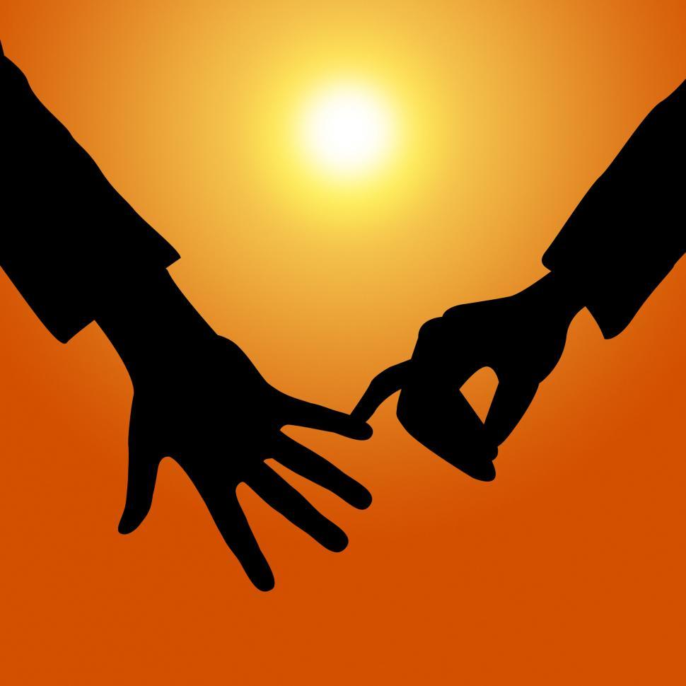 Download Free Stock Photo of Holding Hands Shows Tenderness Together And Fondness