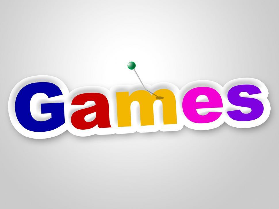 Download Free Stock Photo of Games Sign Represents Play Time And Fun