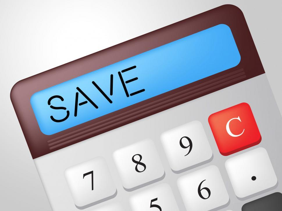 Download Free Stock Photo of Save Calculator Represents Calculation Financial And Invest