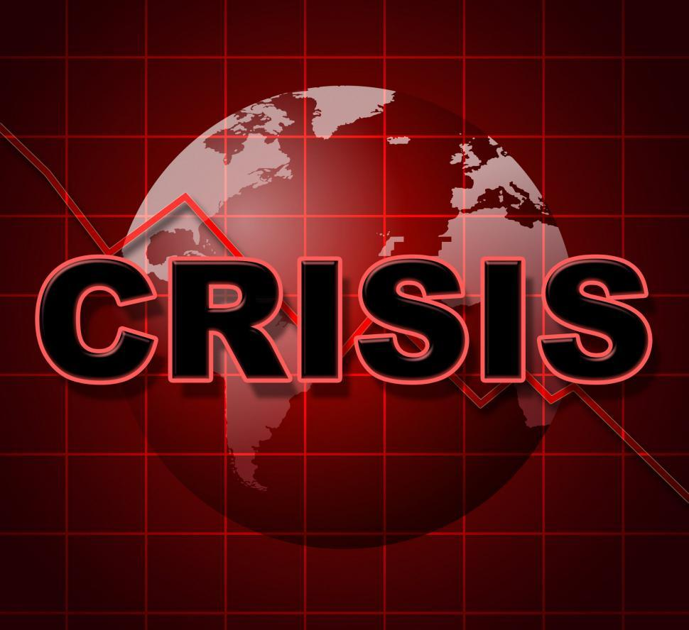 Download Free Stock HD Photo of Crisis Graph Represents Investment Finance And Problems Online
