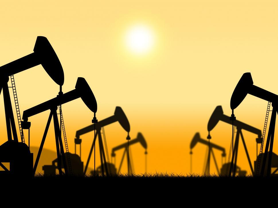 Download Free Stock Photo of Oil Wells Represents Extract Refineries And Oilfield