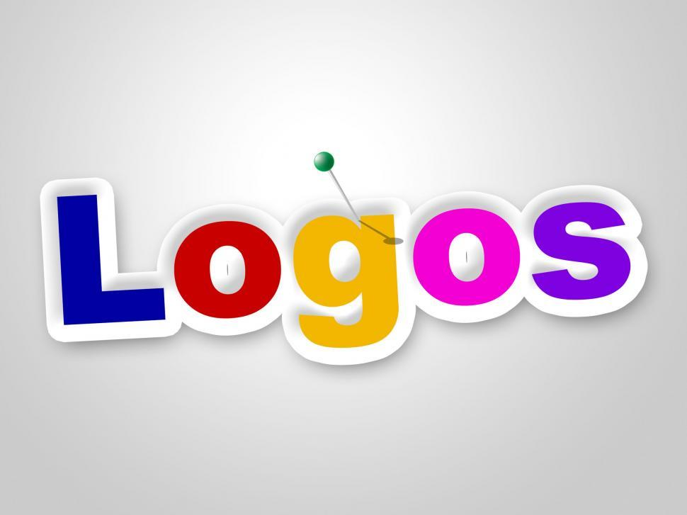Download Free Stock HD Photo of Logos Sign Represents Company Identity And Brand Online