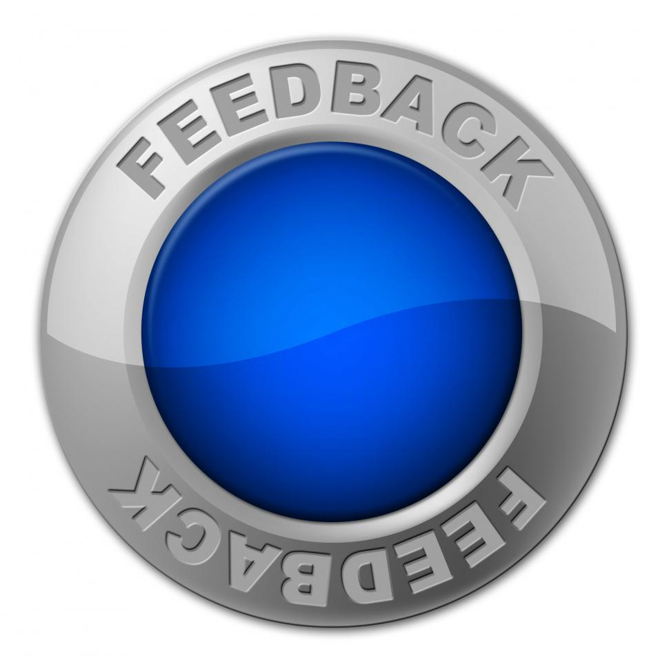 Download Free Stock Photo of Feedback Button Means Comment Surveying And Evaluate