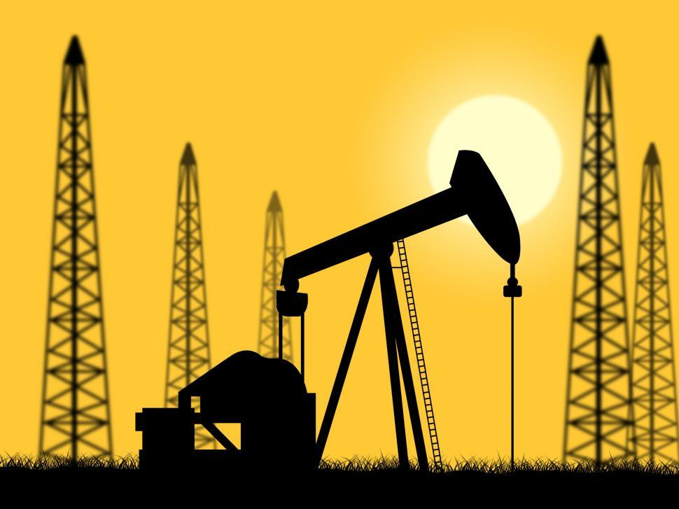 Download Free Stock Photo of Oil Wells Represents Power Source And Drilling