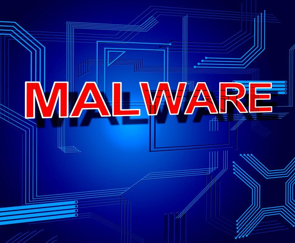 Download Free Stock Photo of Malware Sign Represents Processor Keyboard And Malicious