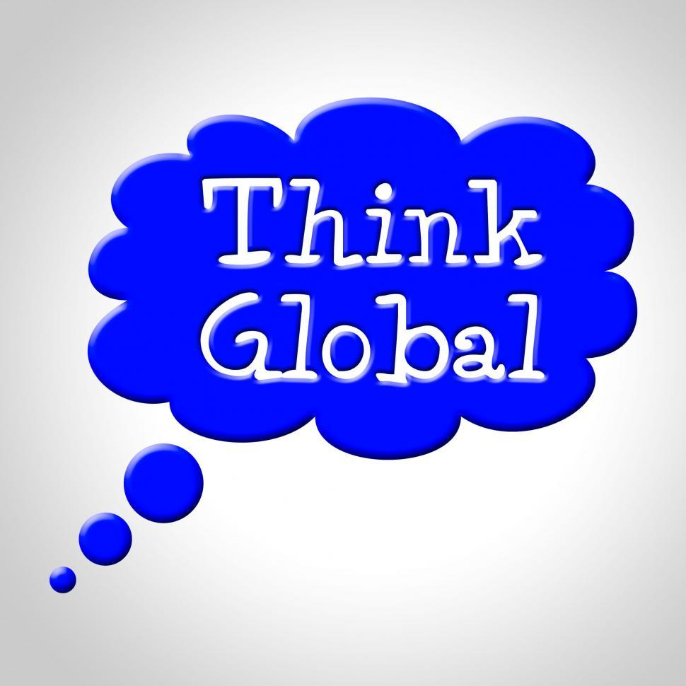 Download Free Stock Photo of Think Global Means Contemplation Earth And Consider