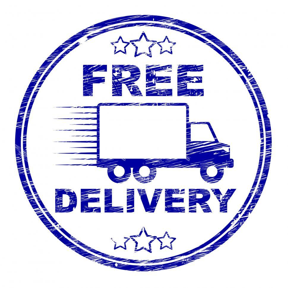 Download Free Stock Photo of Free Delivery Stamp Represents With Our Compliments And Complime