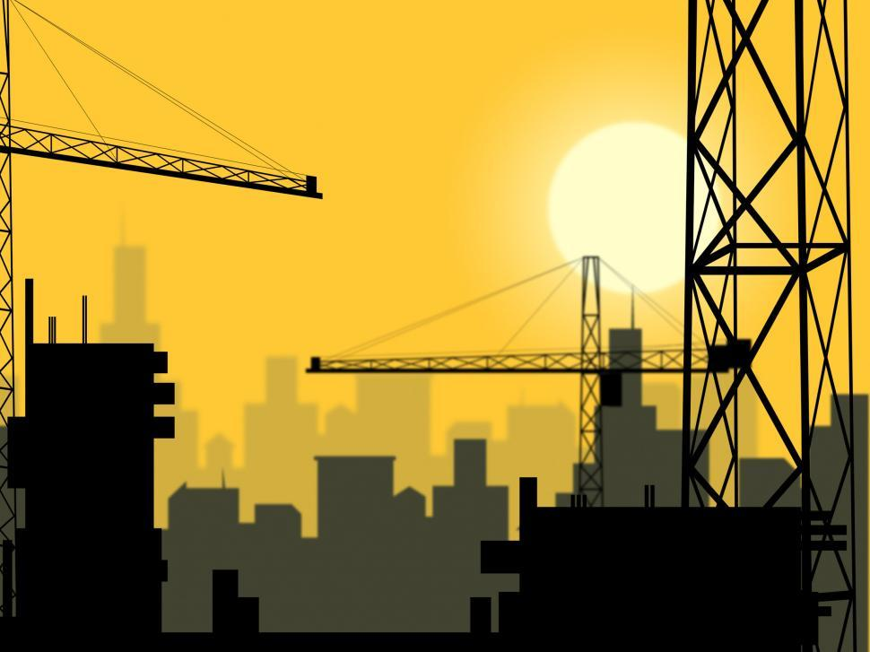 Download Free Stock Photo of Building Plot Indicates City Construction And Buildings