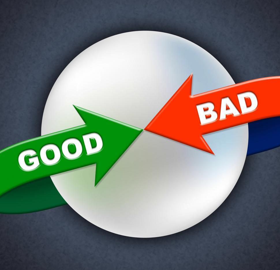 Download Free Stock Photo of Good Bad Arrows Shows First Rate And Amateurish