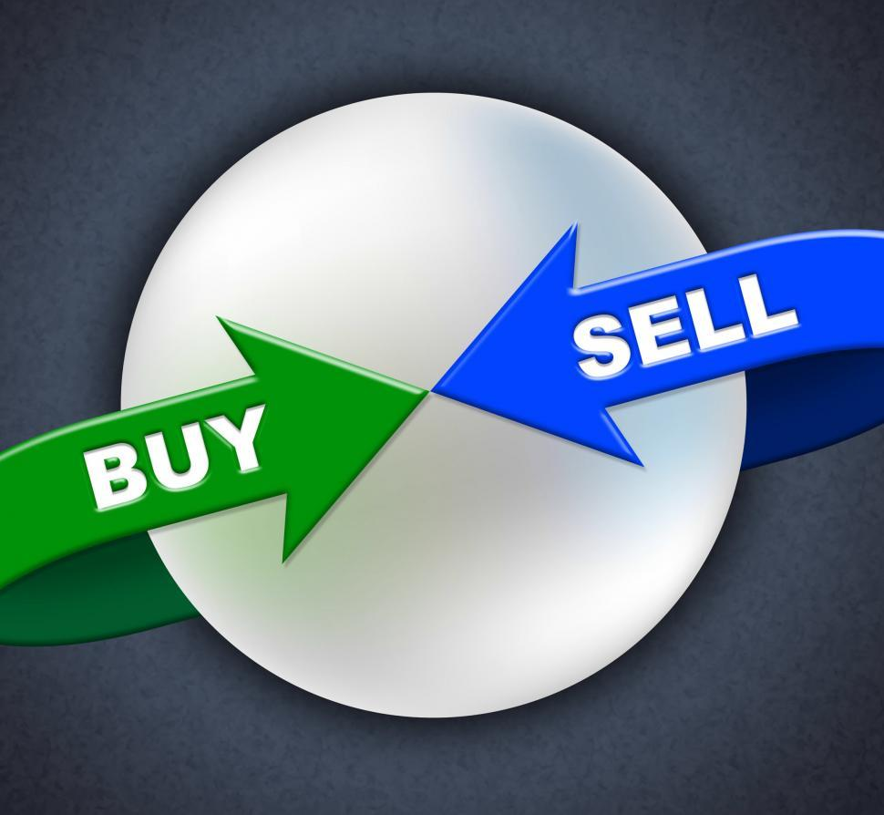 Download Free Stock Photo of Buy Sell Arrows Shows Retail Purchase And Shop