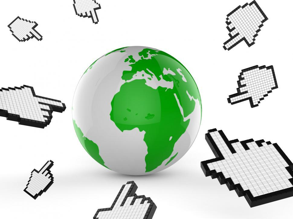 Download Free Stock Photo of Worldwide Internet Indicates Web Site And Analyse
