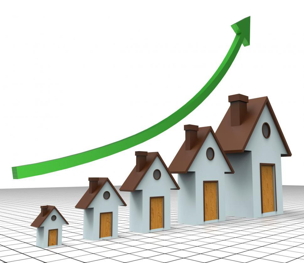 Download Free Stock Photo of House Prices Increase Means Return On Investment And Amount