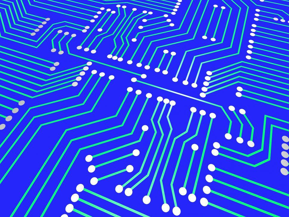 Download Free Stock Photo of Circuit Board Means Hi Tech And Hi-Tech