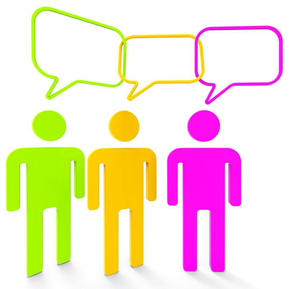 Download Free Stock Photo of People Speaking Indicates Point Of View And Assumption