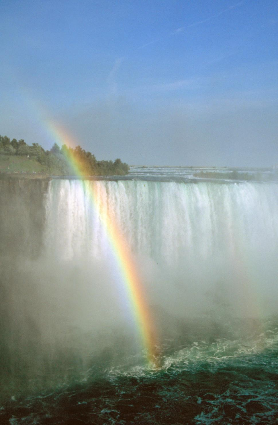 Download Free Stock HD Photo of Horseshoe Falls with rainbow Online