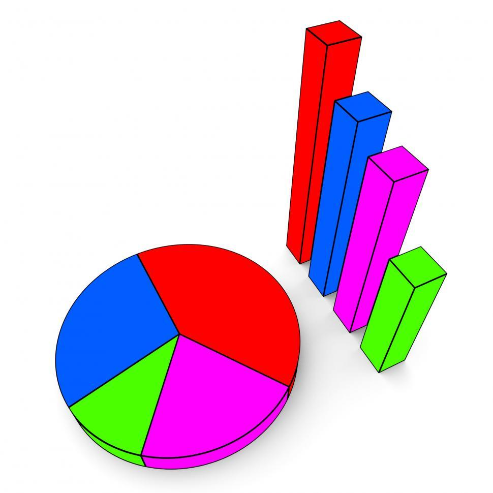 Download Free Stock Photo of Graph Report Indicates Finance Business And Data