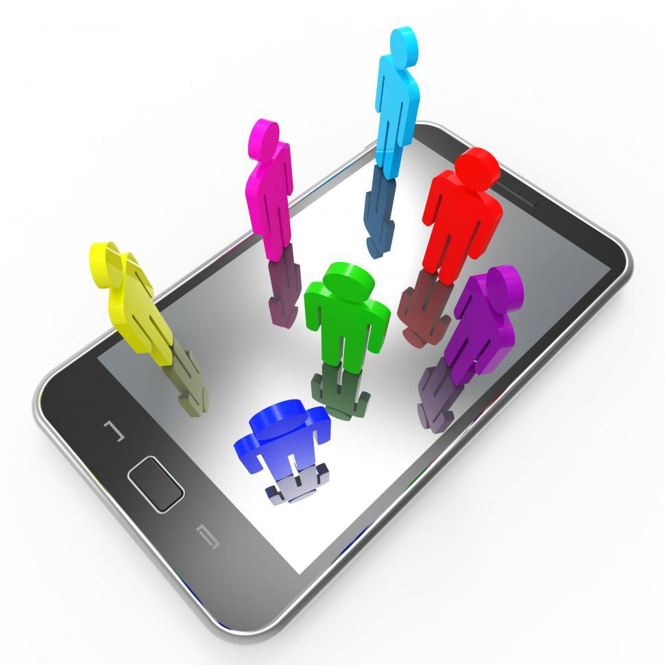 Download Free Stock HD Photo of Phone Communication Means Global Communications And Chat Online