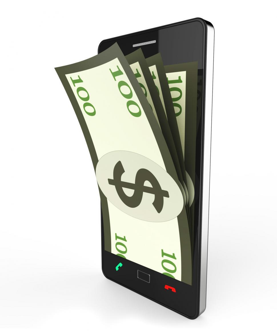 Download Free Stock Photo of Cash Online Shows World Wide Web And Bank