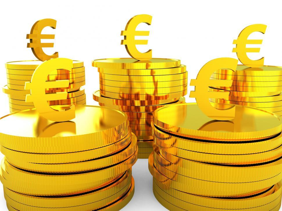 Download Free Stock Photo of Euro Cash Represents Money Revenue And Wealth